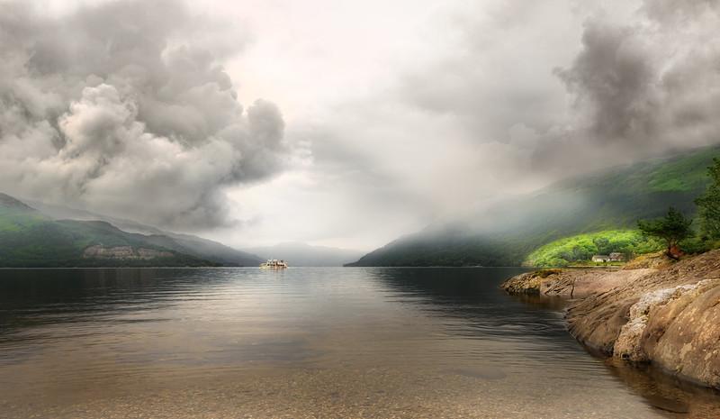 Scotland - Loch Lomond with a streak of light
