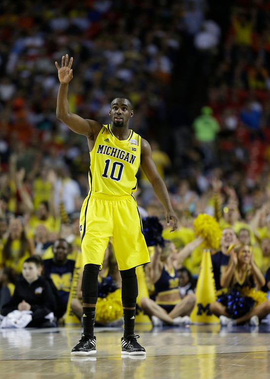 . <b>Tim Hardaway Jr. </b> <br />Guard, 6-6, 205. Averaged 14.5 points and 4.7 rebounds as a junior last year at Michigan. Scouts love his pedigree, size and work ethic after he worked on his outside game a year ago and connected on 37.4 percent of his 3-pointers. Quickness and strength are concerns.  (AP Photo/John Bazemore)