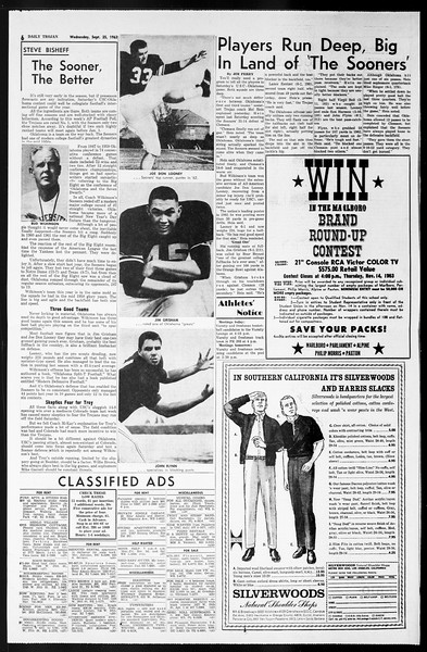 Daily Trojan, Vol. 55, No. 3, September 25, 1963