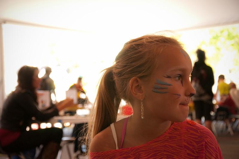 2012.09 - Bumbershoot: face paint