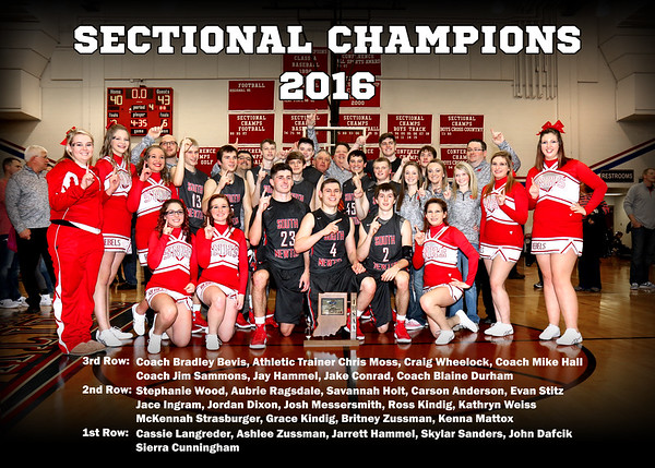SNHS Boys Basketball Sectional Champs 2016