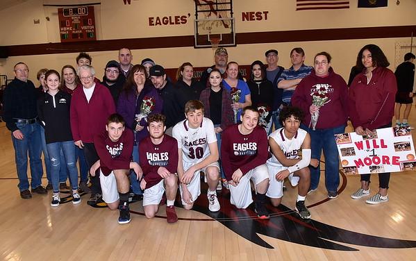 A Senior Moment...Boys Varsity Basketball photos by Gary Baker