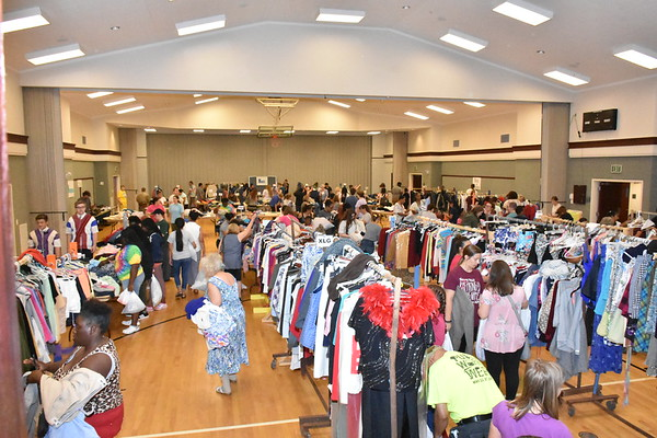 Athens Stake Clothing drive