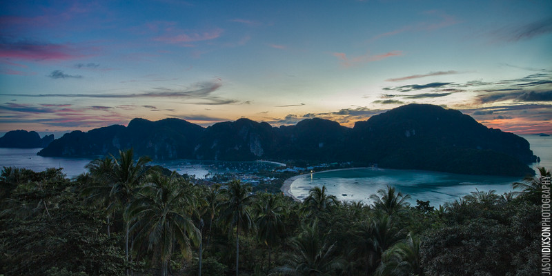 Sunset from the summit view point on Ko Phi Phi.