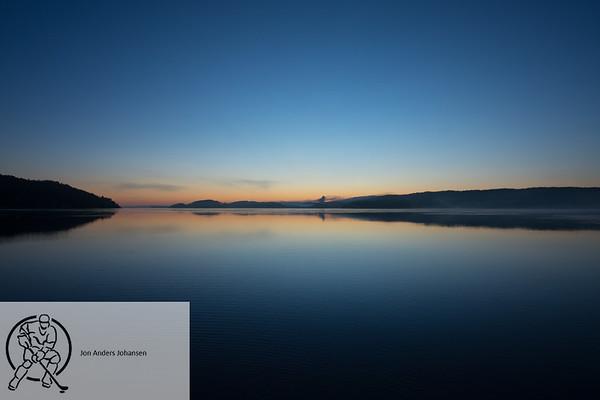 Solnedgang på Høysand, 2.1.2018