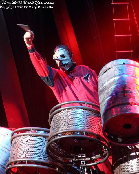Slipknot perform at the 2012 Rockstar Energy Drink Mayhem Festival at the Comcast Center in Mansfield, Mass. on August 3, 2012