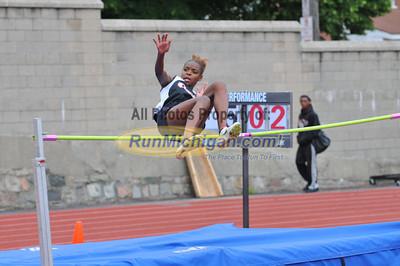 Girl's High Jump, Gallery 2 - 2012 MHSAA LP D2 T&F