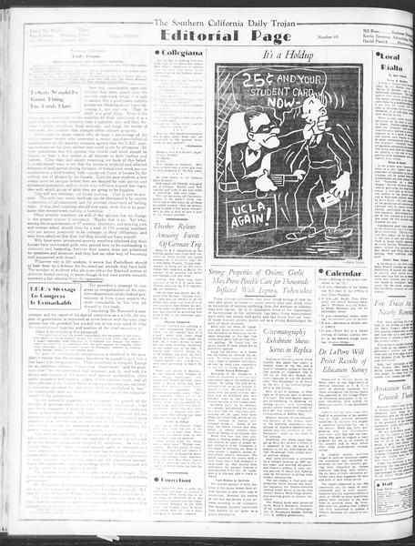 Daily Trojan, Vol. 28, No. 69, January 19, 1937