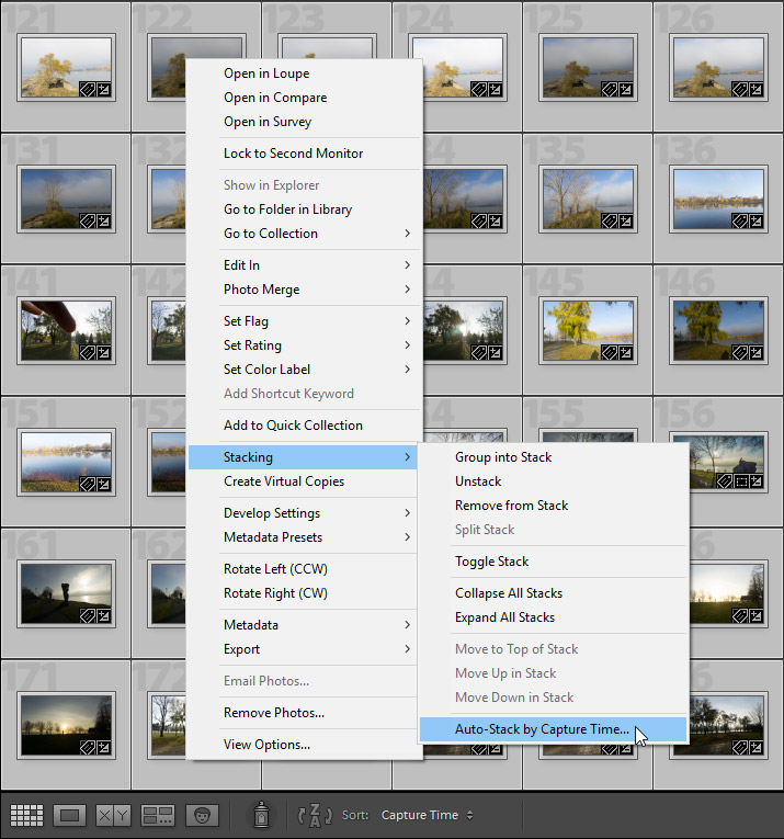 Lightroom Tutorial: Auto-Stack by Capture Time