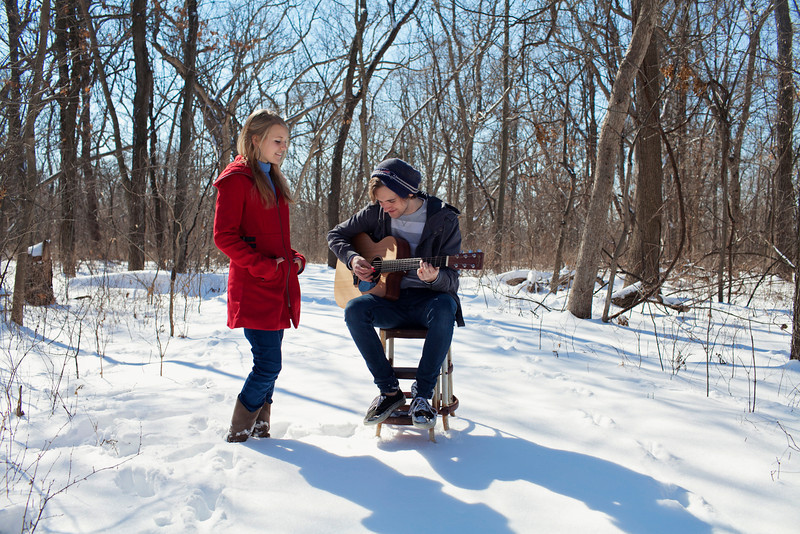 What girl would not want to be sung to in the woods..in the snow...I mean really?!!