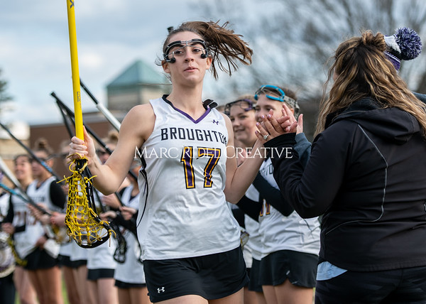 Broughton girls varsity lacrosse vs Middle Creek. February 28, 2020. MRC_5457