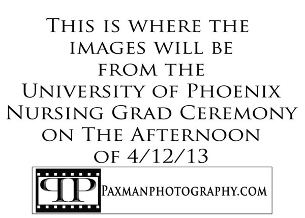 University of Phoenix Nursing Ceremony Afternoon