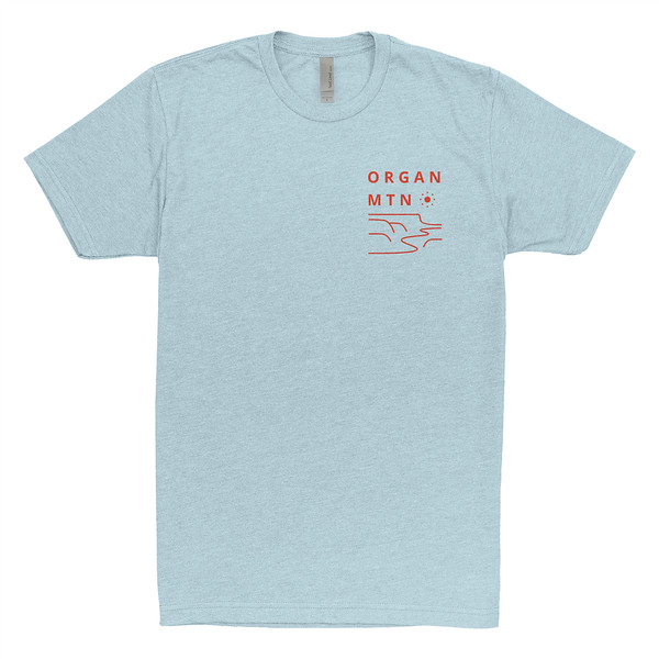 Organ Mountain Outfitters - Outdoor Apparel - Mens T-Shirt - Mesascape Tee - Ice Blue Front.jpg