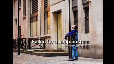 Falling for a lamp post - Drunken tourist