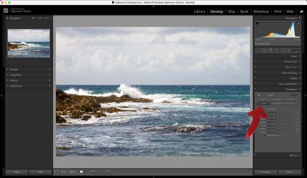 Lightroom - How To Straighten a Crooked Horizon