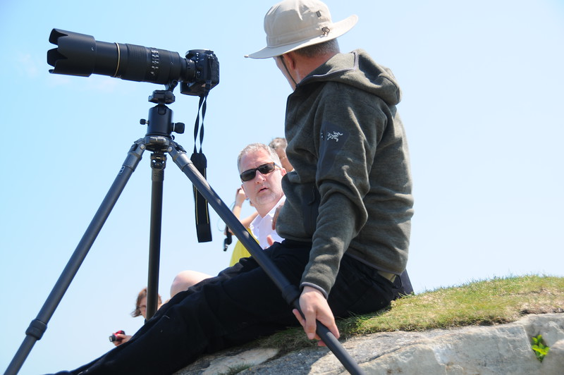 It would have been a benefit to have a big gun such as this on my tripod for puffin watching, but such was not the case.  However my Nikon 18-200 zoom was my lens of choice for these thirty-five days, and it served me quite well I believe.