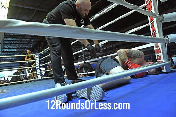 Bout #7: Ammy Boxing, Brandon Hott, Blue Wrist Wraps, 173 Lbs -vs- Zach Hardman, Red Wrist Wraps, 176 Lbs