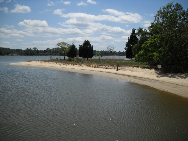 """The point at Ship Point as seen from the pier.  Centreville was a very active port before and after the Revolutionary War... as evidenced by the quaint  """"Captain's Houses"""" in town.  Ships that came to Centreville to pick up or drop off product would anchor out on Emory Cove... hence we get the name of the point... Ship Point.  And now the sailing continues at Ship Point."""