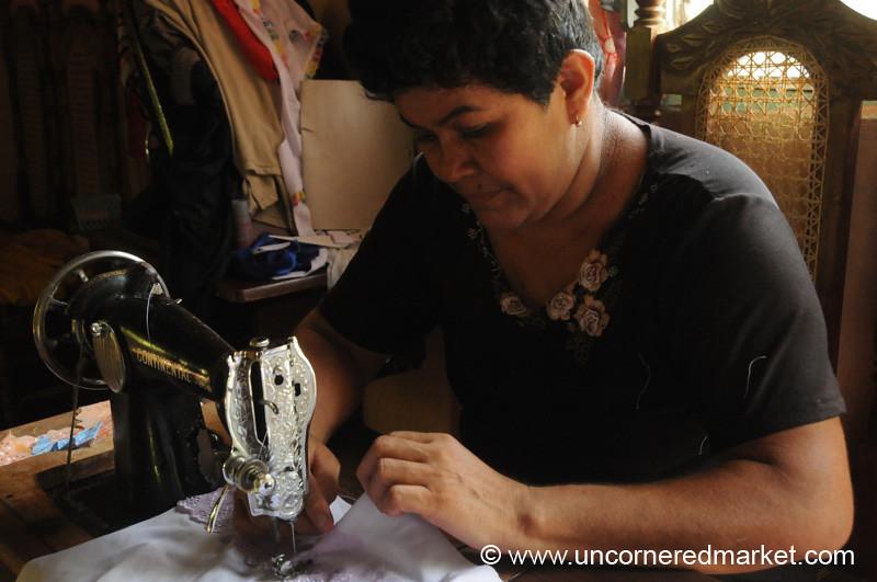 Concentrating on Every Apron - Masaya, Nicaragua
