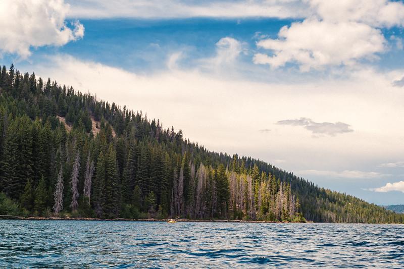 Kayaker, Redfish Lake