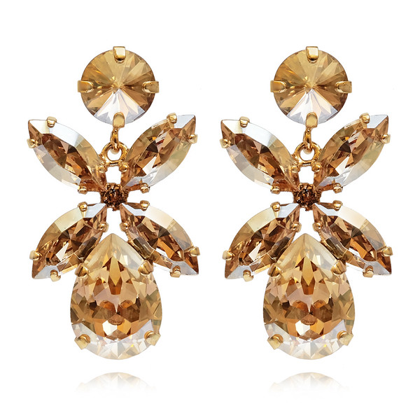 Dione Earrings / Golden Shadow Gold