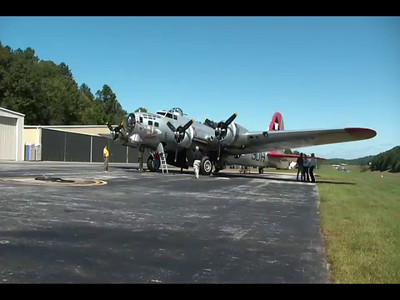 B-17 Bomber at Collegedale Airport
