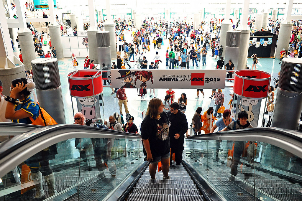. Anime Expo 2014 fills the Los Angeles Convention Center July 3, 2014.  The expo, which runs from July 3-6, is expect to draw 200,000 Japanese animation and pop culture fans.(Andy Holzman/Los Angeles Daily News)
