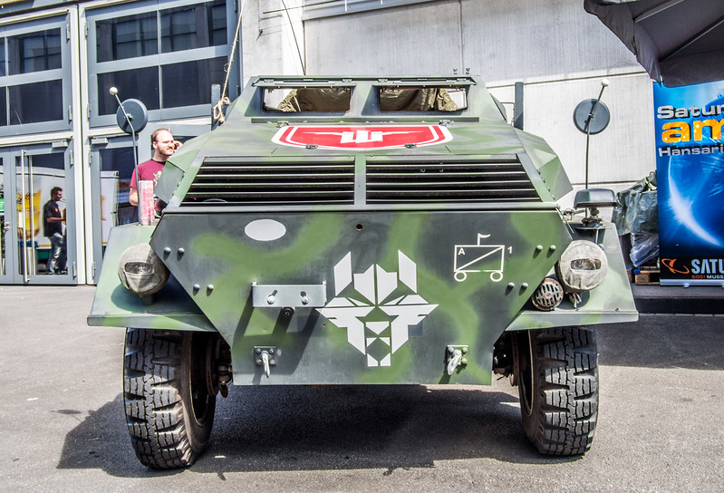 Wolfenstein armored car at Gamescom 2013