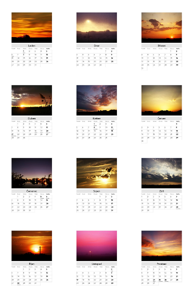 Kalendář Nebe nad Olomoucí 2014 / Skies Above Olomouc 2014 Calendar