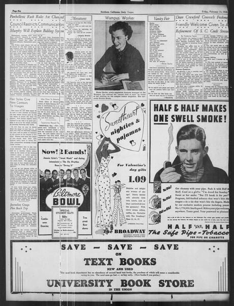 Daily Trojan, Vol. 27, No. 78, February 14, 1936