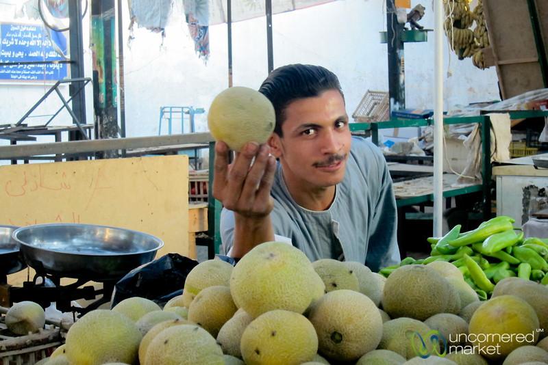 Melon Vendor of Hurghada Market - Egypt