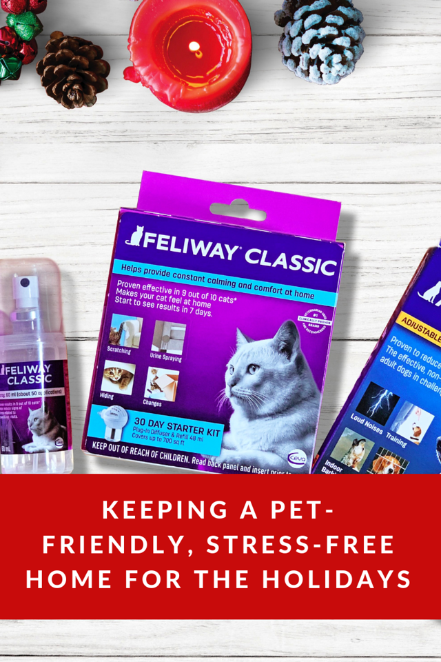 It can be a stressful season for your pets! Find out how to keep a pet-friendly, stress-free home for the holidays this season. #ad #FeliwayCat #AdaptilDog