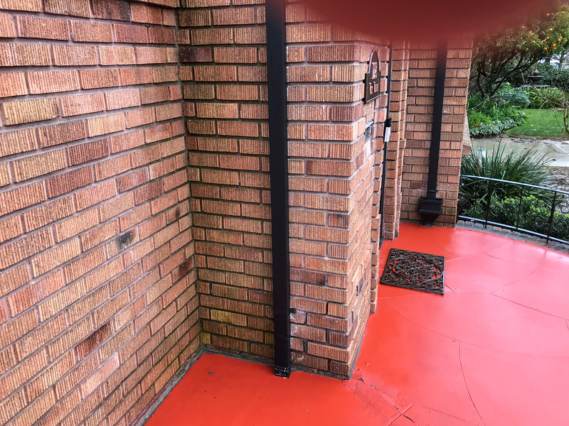 Different angle of the same downspout