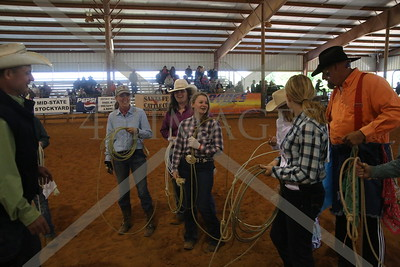 Sr Calf Roping on Foot