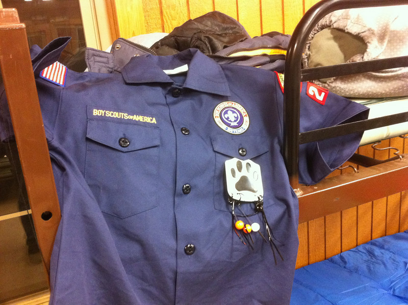 Getting the uniform ready for tomorrow morning!