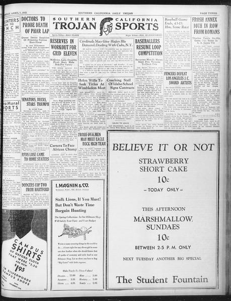 Daily Trojan, Vol. 23, No. 120, April 07, 1932