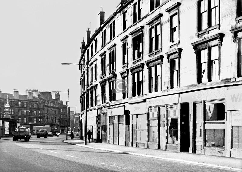 London Rd, north side east of Bridgeton Cross.    February 1974