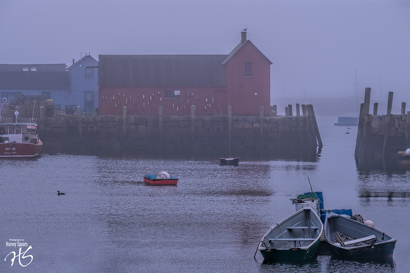 Foggy Day in Rockport, MA