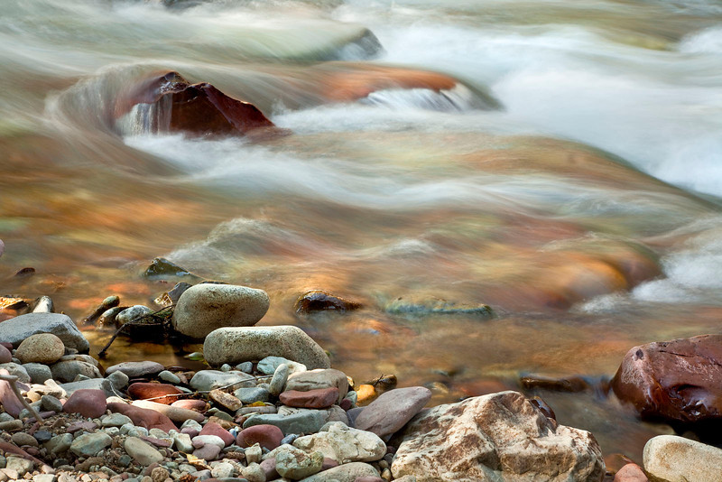 Colorful stones and Castle creek, Colorado