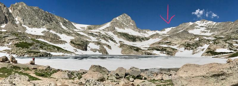 Skiing Paiute Peak - 7/4/17