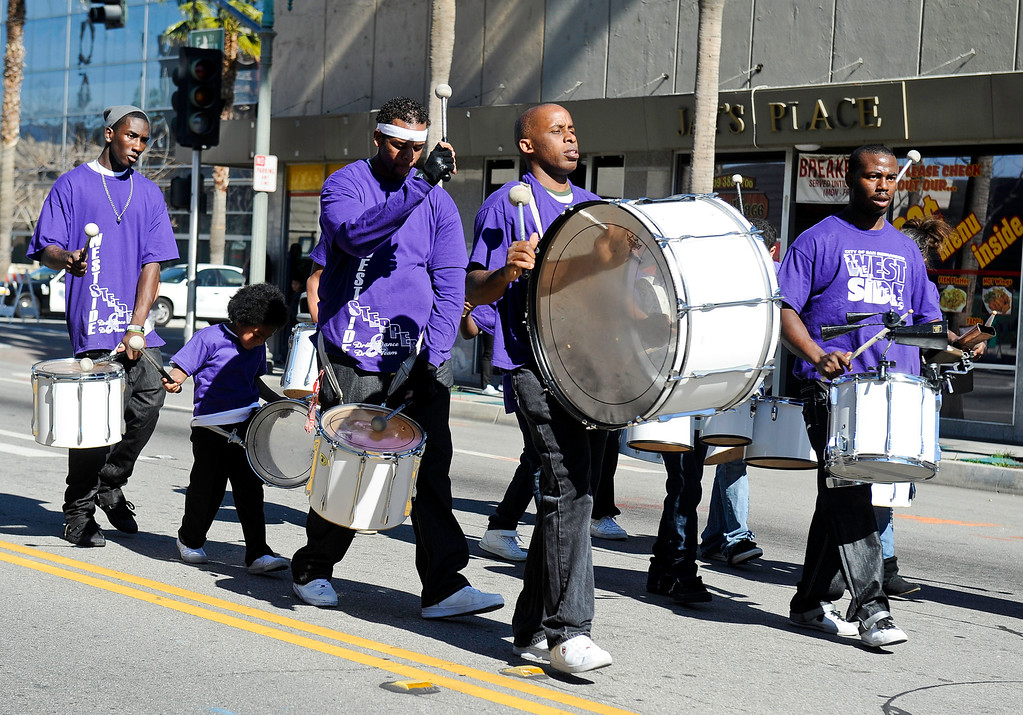 . The San Bernardino Black Culture Foundation holds its 43rd annual Black History Parade in downtown San Bernardino on Saturday, Feb. 4, 2012.  (Staff file photo/The Sun)