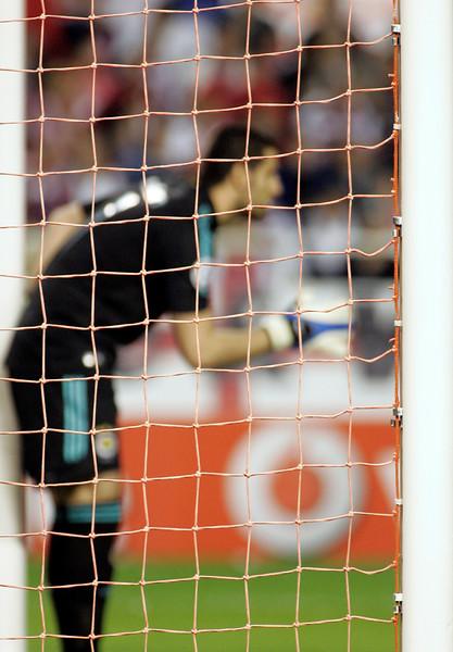 Volkan Demirel, Fenerbahçe's goalkeeper. UEFA Champions League first knockout round game (second leg) between Sevilla FC (Seville, Spain) and Fenerbahce (Istambul, Turkey), Sanchez Pizjuan stadium, Seville, Spain, 04 March 2008.