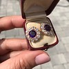 7.30ctw Victorian Amethyst and Old Mine Cut Diamond Cluster Earrings 12