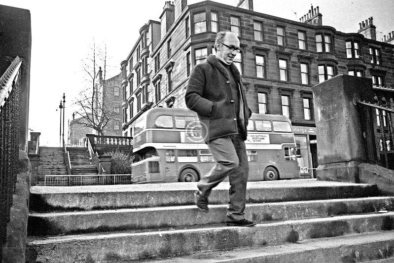 Dalhousie St lower steps.     February 1976