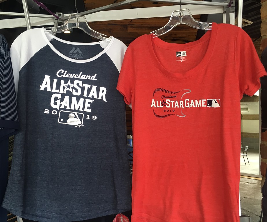 . 2019 All-Star Game official T-shirts. (David S. Glasier - The News-Herald)