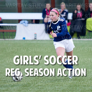 Girls Soccer Action