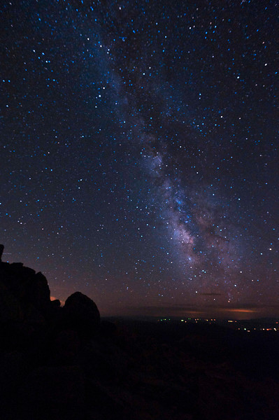 This sight always leaves me without words.  In spite of city lights, the Milky Way in all its glory.