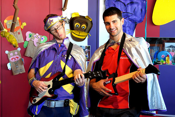 Kevin Lisch and Captain Starlight