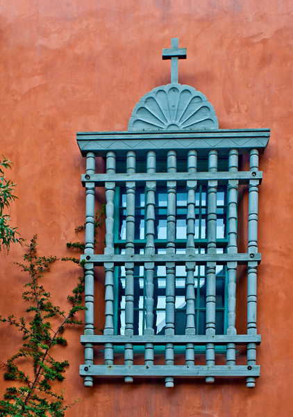 "'Blue Church Window Grill'Canyon Road  Santa Fe, NM   12""x16"", Luster paper limited edition of 100"