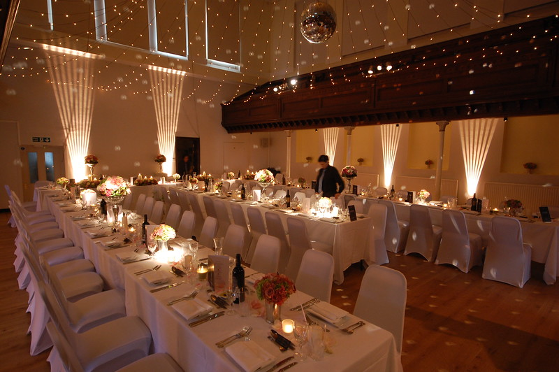Art Deco Uplighters & Mirror Ball to match